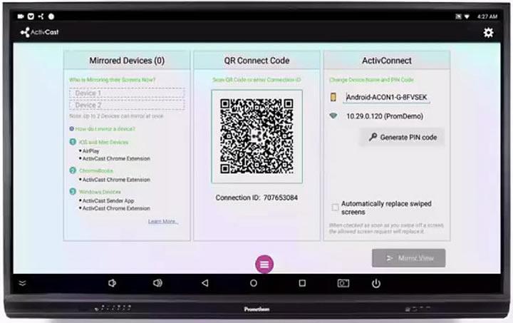 ActivCast, logiciel de mise en miroir écran