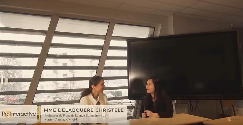 interview professeur français Master Class Bobigny
